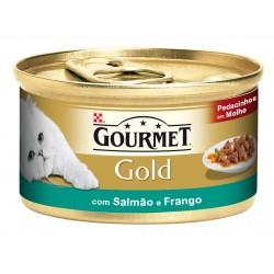 Gourmet Gold Salmão & Frango 85Gr