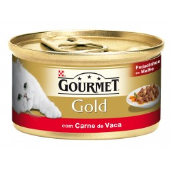 Gourmet Gold Ppedacinhos Molho Carne Vaca 85Gr