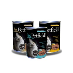 PETFIELD WETFOOD CAT BEEF 410GR